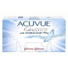 Двотижневі контактні лінзи Acuvue Oasys Johnson & Johnson With Hydraclear Акувью Оазис 1 шт (-2,00)
