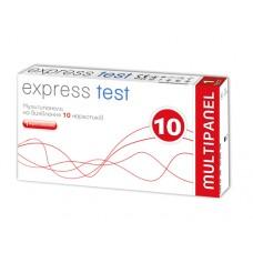 Експрес-тест Express Test наркотики Мультипанель на 10 смужок